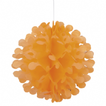 "Flutter Ball Paper Lantern - 12"" Orange"